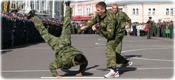 Показательное выступление курсантов группы спортивного совершенствования по рукопашному бою на выпуске (пл. Революции)