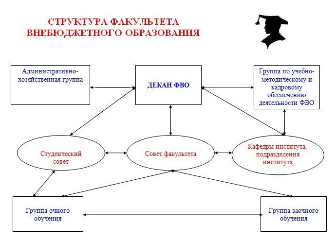 Структура факультета внебюджетного образования