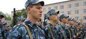 Построение личного состава курсантов на плацу института