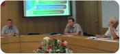 Совещание при начальнике института в зале Ученого совета
