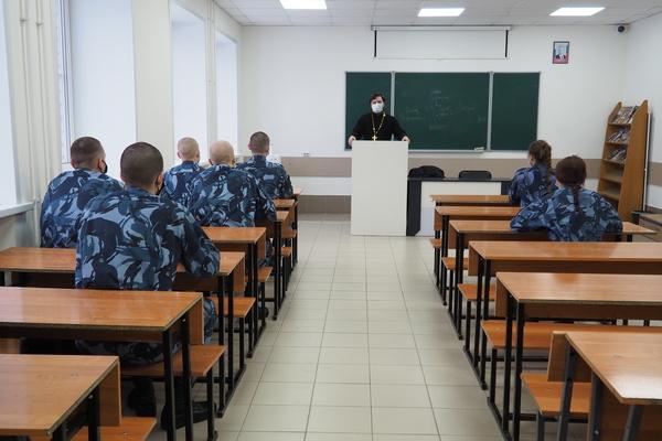 Беседу по профилактике экстремизма и терроризма провел священнослужитель с курсантами ВИПЭ ФСИН России
