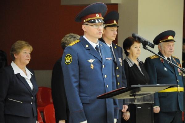 В торжественной церемонии принимали участие начальник института Евгений Харьковский