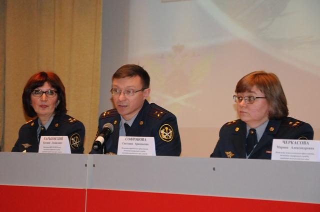 На вопросы отвечали руководители института, УФСИН России по Вологодской области, военно-врачебной комиссии