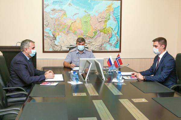 Первый заместитель директора ФСИН России Анатолий Рудый провел рабочую встречу с представителями Норвежской службы исполнения наказаний