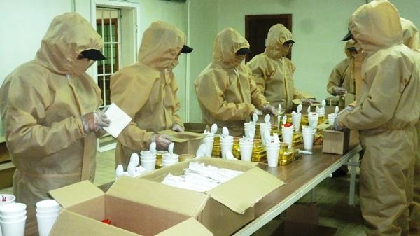В ИК-53 ГУФСИН России по Свердловской области укомплектовали 7000 наборов индивидуальных рационов питания