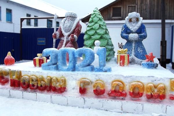 В исправительных учреждениях УФСИН России по Кировской области появилось более 70 фигур из снега и льда
