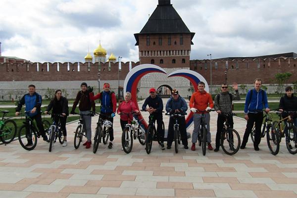 Сотрудники УФСИН России по Тульской области совершили велопробег, посвященный 75-летию Победы в Великой Отечественной войне