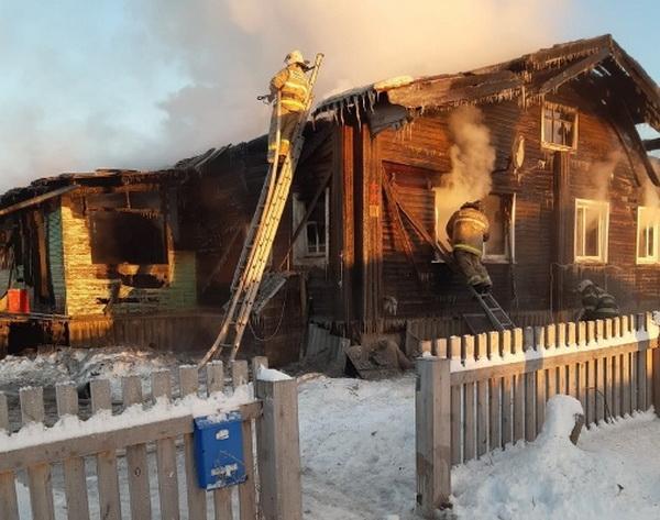 Сотрудники пожарной части КП-19 УФСИН России по Архангельской области помогли в тушении крупного пожара