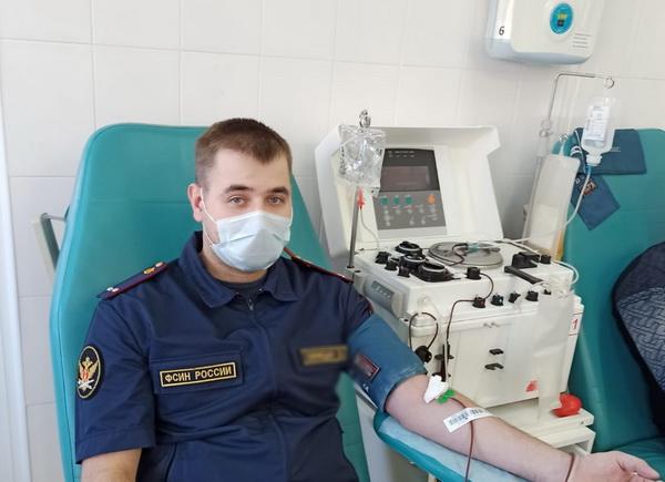 Сотрудники СИЗО-1 УФСИН России по Республике Мордовия организовали коллективную сдачу крови